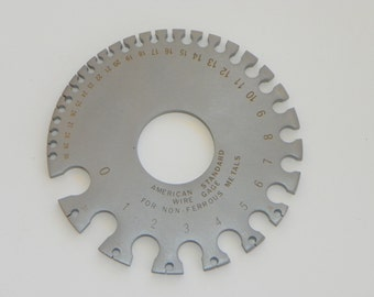 Wire and Sheet Metal Gauge--AMERICAN SIZES