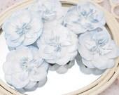 NEW: Manor House Creations 6 piece Shabby Chic Handmade Paper Flower - Fairy Floss Soft Blue