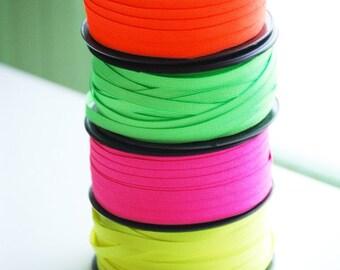 "10 YDs x app.1/4""(6mm)  NEON Grosgrain Ribbon(4 Colors)"