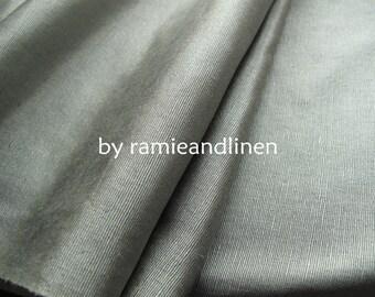 "silk fabric, ribbed silk noil satin fabric, light sage green, half yard by 36"" wide"