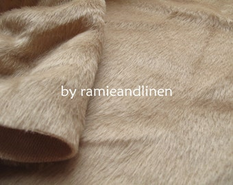 plush fabric, wool cotton blend fabric, good for teddy bear, fat quarter