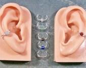 Miniature Gemstone Ear Cuff; U Choose Stone