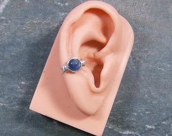 Kyanite & Silver Ear Cuff