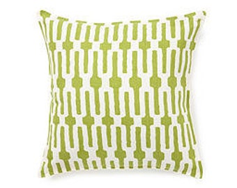 Pillow cover Cushion cover 20x20  geometric tribal ikat green