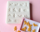 Silicone Flexible Animal Shape Cookies Mold for Dollhouse Miniature