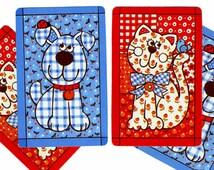 YIP & YAP (4) Vintage Hallmark Single Swap Playing Cards Paper Ephemera Scrapbook