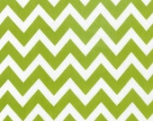 Chevron Fabric in Lime by Anne Kelle for Robert Kaufman, 1 yard- ON SALE