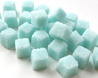 Blue Sugar Cubes-Flavored Sugar for Tea Parties, Champagne Toasts, Tea, Coffee, Favors, Showers, High Tea, Mad Hatter Tea Party, Baby Shower