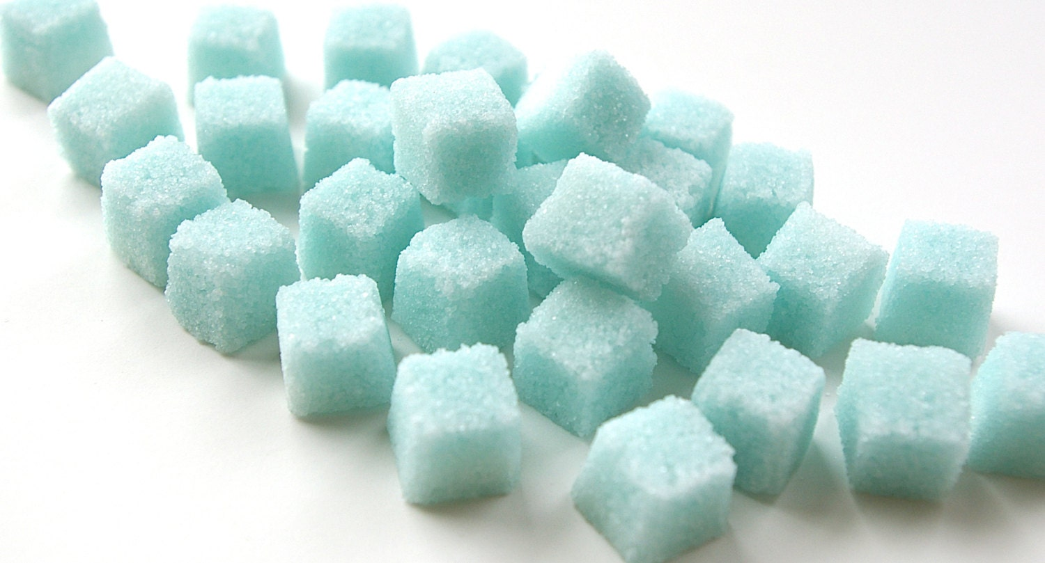Blue Sugar Cubes Flavored Sugar Cubes Tea Party Champagne