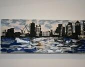 CANARY WHARF MOOD 1- Collage mixed media Artist - Sellvida George