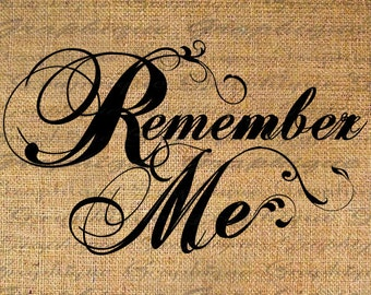 Antique Vintage Burlap Digital Download Digital Collage Sheet Word Remember Me Calligraphy Transfer To Pillows Tote Tea Towels 4441