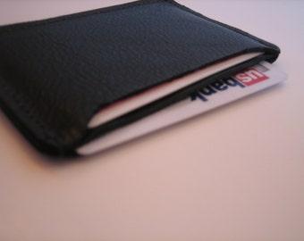 Black Leather ID Holder