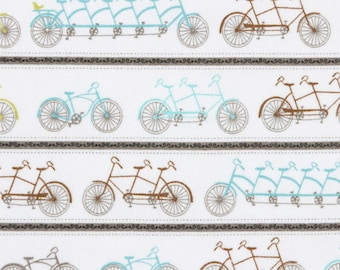 A Bicycle Made for Two - Flannel - Fabric - BTY
