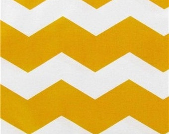 Thick Chevron - Yellow - Cotton Quilting Fabric - Brother Sister Designs - BTY