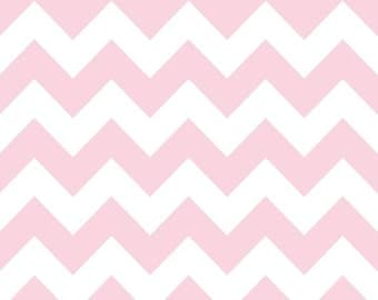 Riley Blake Baby Pink Chevron Medium Sized- 1 fat quarter