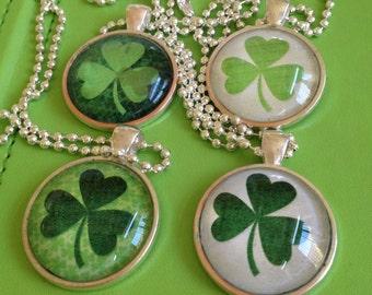 Bridal  Shamrock Necklaces