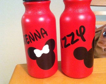 Mickey and Minnie Mouse Personalized Sports Bottles - Party Favors