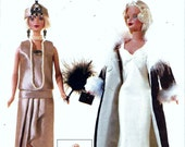 Vogue Craft 7162 Barbie Doll 20s 30s Flapper Dress Clothes Sewing Pattern By Linda Carr