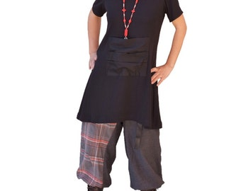 Jersey women dresses/Plus size tunics/women wrap tops/loose cut blouses/long shirts