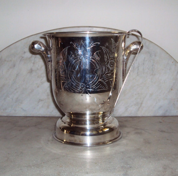 Fabulous silver ice bucket with tongs / champagne bucket / celebrations / weddings /wine cooler