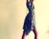 April Sunshine  Dress in zebra print satin silk