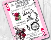 Queen of Hearts Party Invitations, Printable Custom Invitations by Cutie Putti Paperie