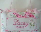 Personalised Baby's and Girl's Name and Birth Date Cushion