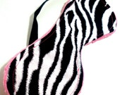 Zebra Sleep Mask - Black, White, Pink, Minky, Zebra, Eye Mask