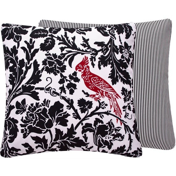 Red Cardinal Decorative Throw Pillow Cover by ChloeandOliveDotCom