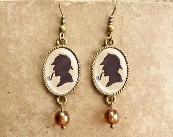 Sherlock Holmes - Vintage Earrings