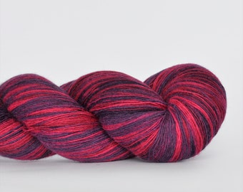 Kauni Wool Yarn, Self-Striping, Fuchsia pink and Purple Gradient, 1ply