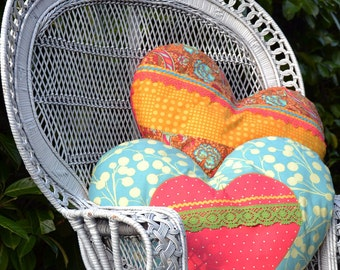 Heart pillow Blue Joy