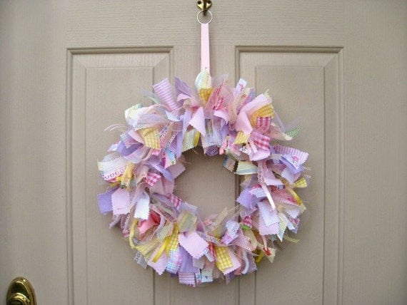 Newborn Baby Girl Wreath Baby Door Wreath Baby Shower