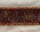 Autumn Leaves Peyote Stitch Bracelet