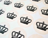 Crown Envelope Seals, Vintage Crown Stickers, Gift Tag
