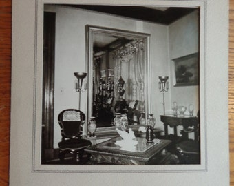 SALE In Shop! XL Original Victorian old house interior photograph parlor view furniture wonderful details, in thick matte, MORE for grouping