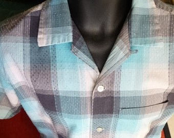 1950's Gene Vincent shirt made of Super-Slubbed fabric by Gayley and Lord-16/16.5 collar