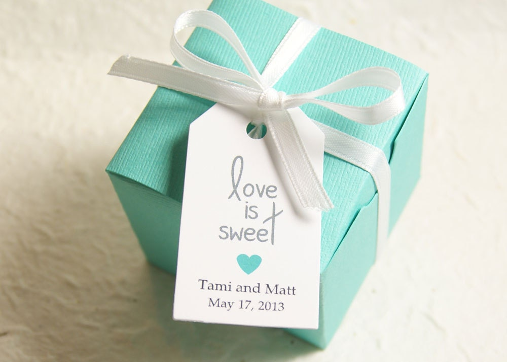 Wedding Favor Tags With Photo : Love is Sweet Wedding Favor Tag Gift Tag Bridal Shower