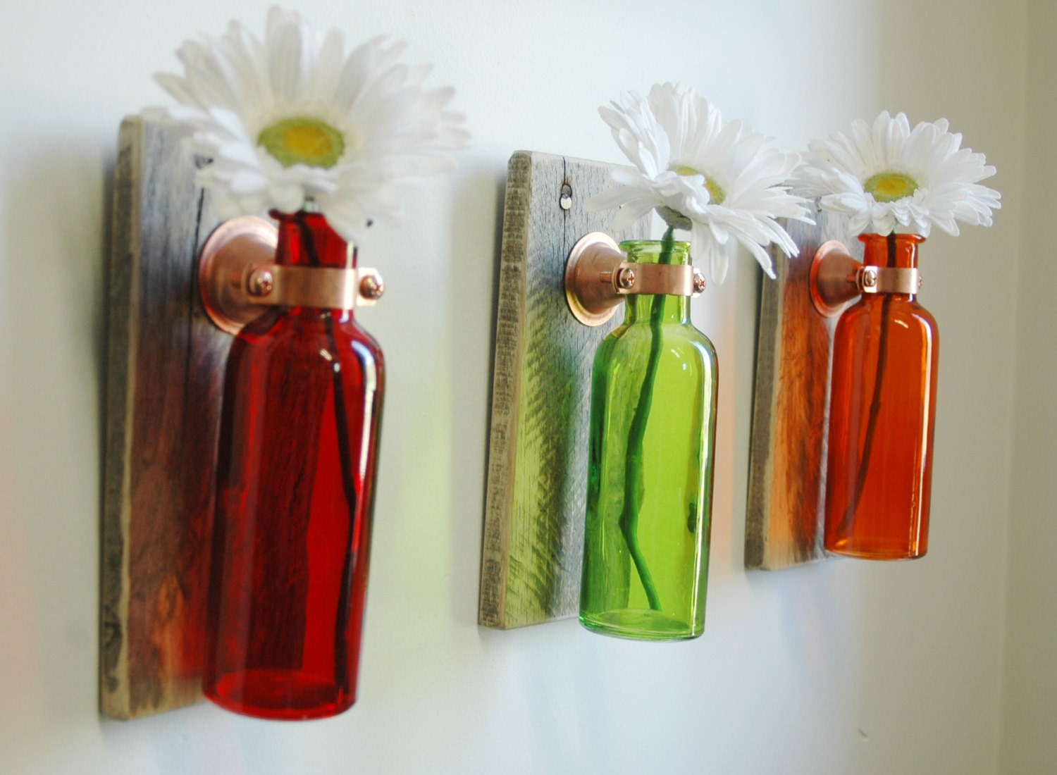 Quarto Rustico ~ Fruit Punch Collection of Colored Bottles each mounted on