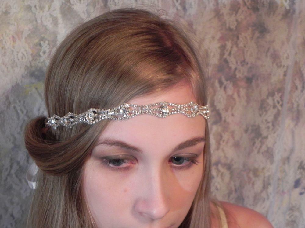 1920u0027s rhinestone headband art deco style wedding headpiece bridal headband