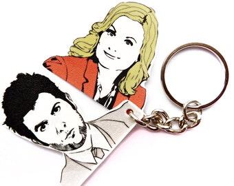 Pawnee's First Couple keychain
