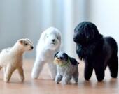 custom 3d pet portrait  (medium size) - miniature felt pet portrait by mountroyalmint