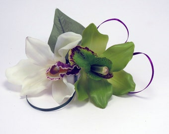 Orchid Corsage, Green and White Orchids, Mother's Day, Prom