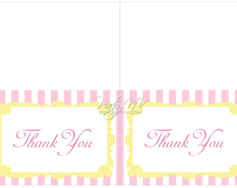 Instant Download - PRINTABLE (Thank You Notes) - Carnival Collection