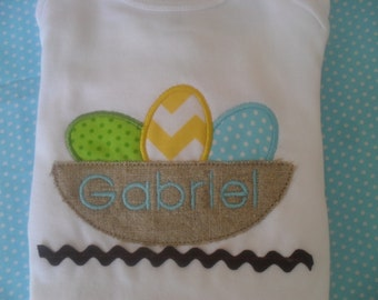 Easter eggs in a nest shirt