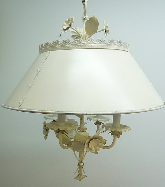 vintage shabby chic metal chandelier