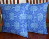 Decorative Throw Pillows - Set of Two 18 Inch Pillow Covers - Royal Blue