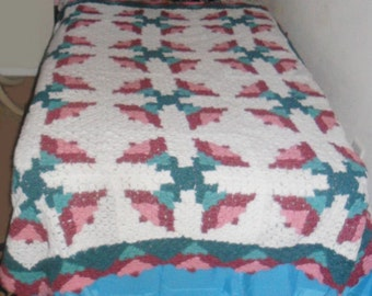 large stained glass afghan