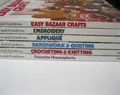 Collection of Better Homes and Gardens Detailed How To Books Set of Six Lots of Ideas Perfect for Crafts, Etsy Shop Ideas, Gifts, Home Decor
