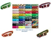 Medium Dog Macramé Collar - Custom Color - Choose your own-Combination or Solid Color
